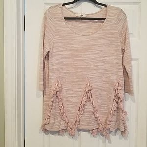Mauve top with tassels